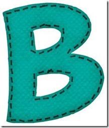 b letras verdes