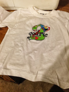 a Shirt I embroidered for my son's birthday