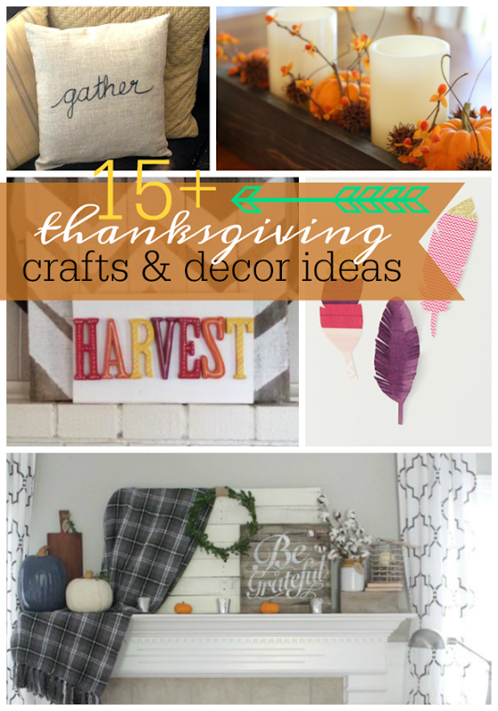 Over 15 Thanksgiving Crafts & Decor Ideas at GingerSnapCrafts.com #thanksgiving #crafts #homedecor #gingersnapcrafts