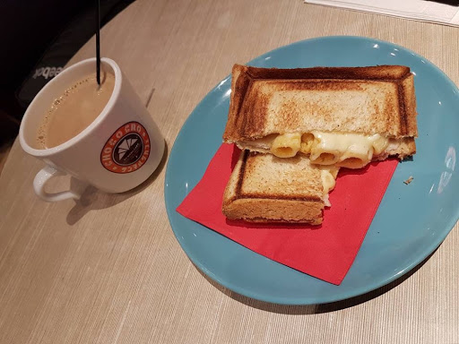 Lunch set of toast and tea from St Marc Cafe at Raffles City
