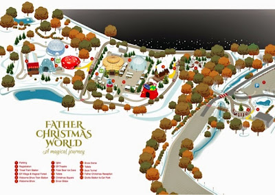 Father Christmas World Map