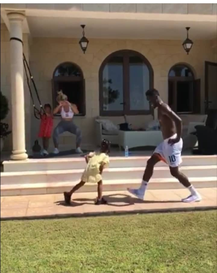 Mikel Obi Trains With His Family After Retiring From Super Eagles