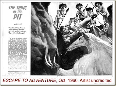 ESCAPE TO ADVENTURE, Oct 1960. Artist uncredited WM