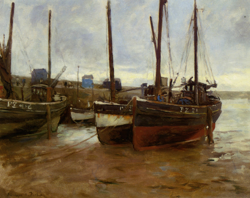Stanhope Forbes - Boats at Anchor
