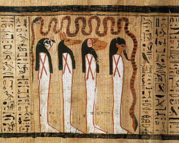 Illustration Book Of The Dead Of Heruben Egyptian Gods, Egyptian Magic