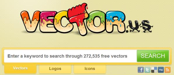 Vector.us, un buscador de vectores gratuitos