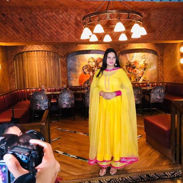 Sonali addresssing media