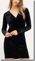 Oasis velvet wrap dress