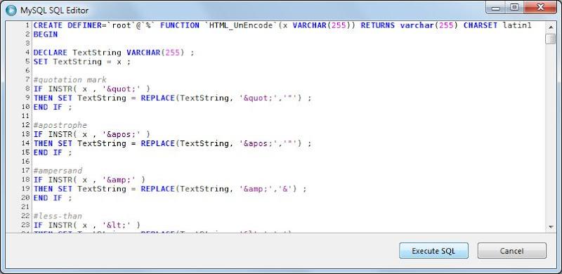 Añadir procedimiento almacenado stored procedure en servidor MySQL Server con MySQL Administrator