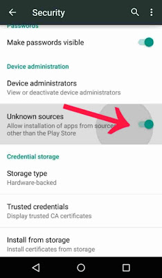 how to install app from unknown source