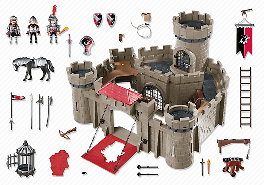 Contenido real de Playmobil® 6001 Castillo de los  Caballeros del Halcón