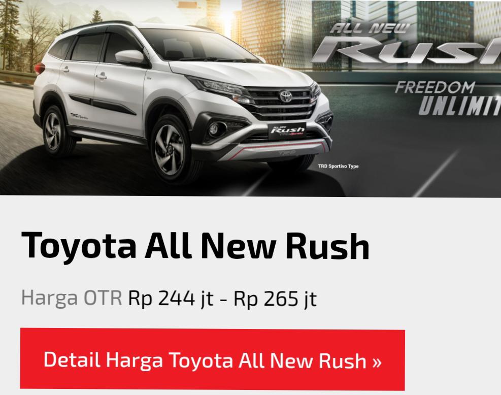 Kenali Keunggulan Toyota Rush Terbaru, Desain Lebih Sporty