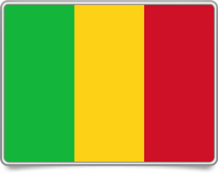 Malian framed flag icons with box shadow