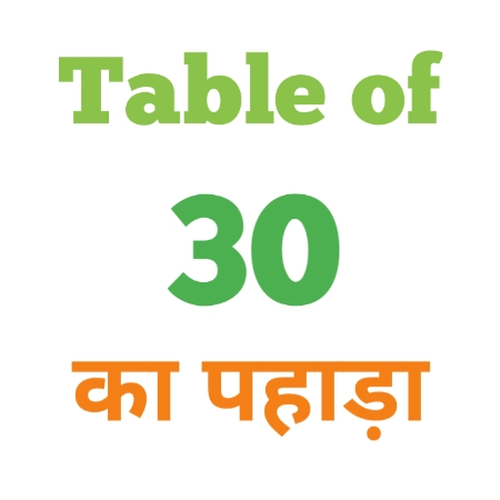 30 Ka Pahada ( 30 का पहाड़ा ) 30 ka pahada in hindi - Group Exam