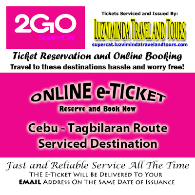 2Go SuperCat Cebu-Tagbilaran Ticket Reservation and Online Booking