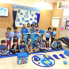 Blue Day Celebration By Nursery Section at Witty World Bangur Nagar (2018-2019)