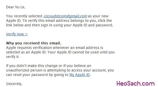 Hình 8 - Hướng dẫn lập tài khoản Apple ID, iCloud, Appstore qua iTunes
