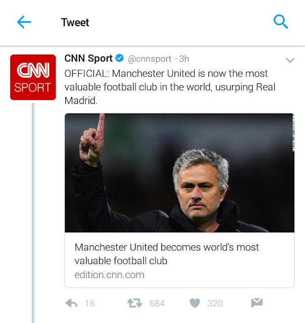 Manchester United Now The World Richest Club!!