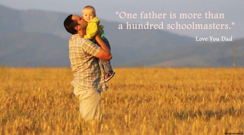 Những câu nói tiếng Anh hay nhất về cha