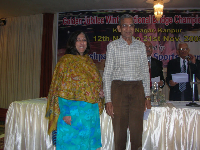 2008 Winter Nationals - Winner of Individual Event Mr. G.P. Gupta with Chief Guest