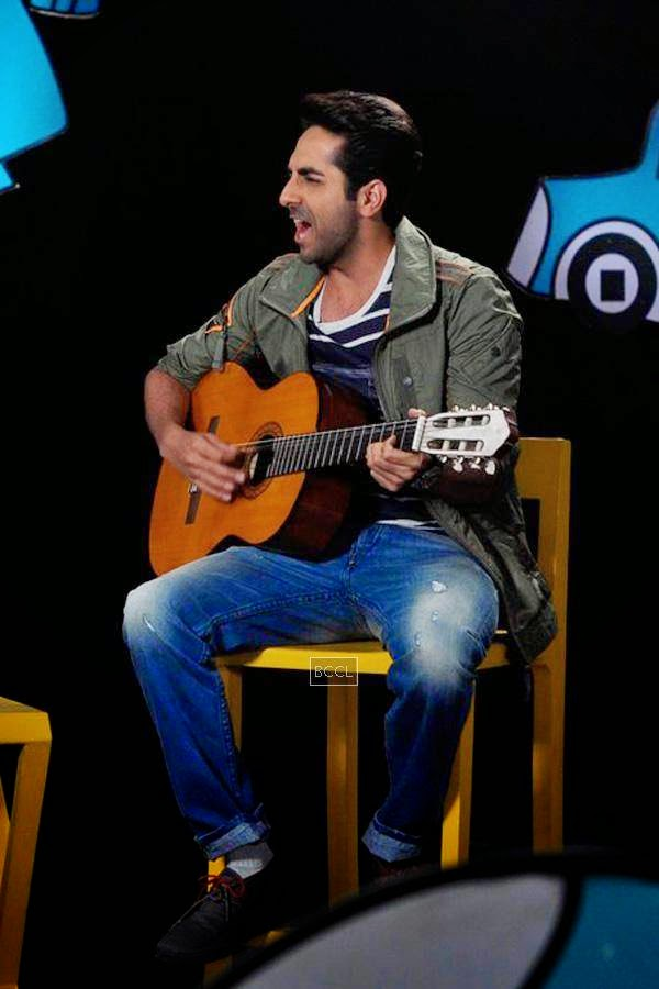 Ayushmann Khurrana on the sets of Disney's kids chat show Captain Tiao in Mumbai. (Pic: Viral Bhayani)