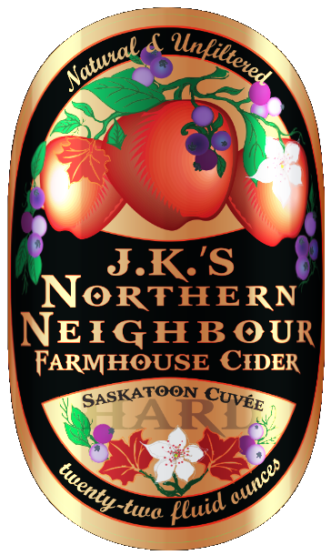 Logo of J.K.'s Northern Neighbour Farmhouse Cider Saskatoon Cuvee