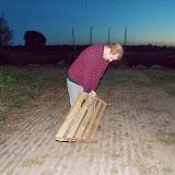 Michel zorgt voor nog wat extra brandhout