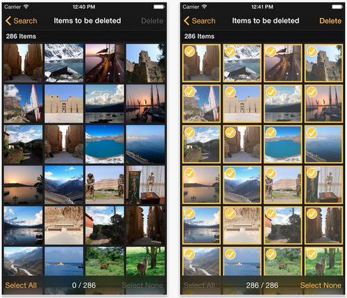 すべて写真を一回で削除するアプリ