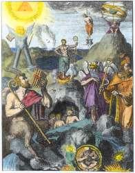 From De Hooghe Hieroglyphica Oder Denkbilder Der Alten Volker Amsterdam 1744, Alchemical And Hermetic Emblems 1