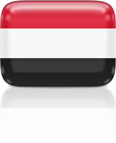 Yemeni flag clipart rectangular
