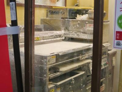お店の奥にある製麺室