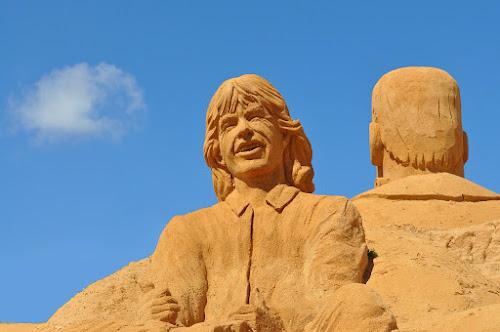 Rolling Stones Sand Art