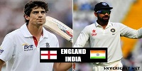 England v India Test Series 2016