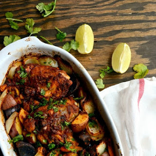 Tandoori Roast Chicken and Vegetables.