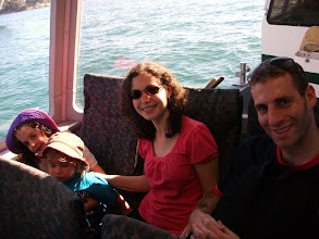 Photo: On the ferry with Tim and Sharni