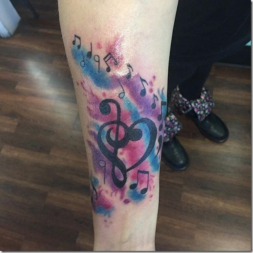 Tatuajes De Notas Musicales Tatuajes247
