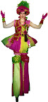 Pink & Green Sequin Clown