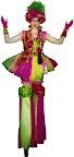 Pink & Green Sequin Clown