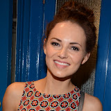 WWW.ENTSIMAGES.COM -    Kara Tointon leaving Relatively Speaking  Play Wyndam's Theatre London August 29th 2013                                  Photo Mobis Photos/OIC 0203 174 1069