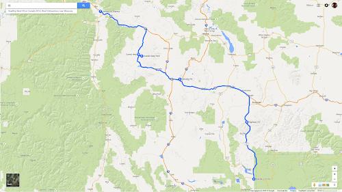08 Roadtrip West VS en Canada 2014, West Yellowstone naar Missoula.png