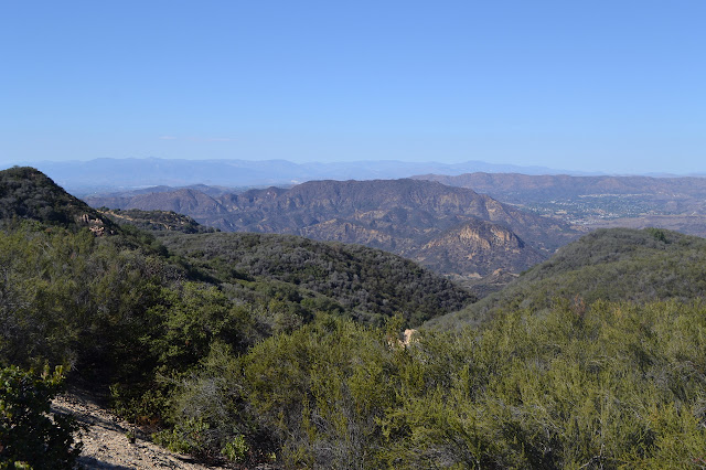San Gabriel Mountains in the distance