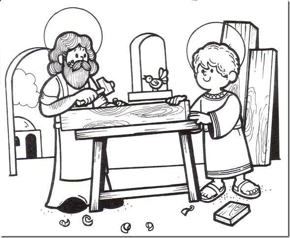 Marzo, mes dedicado a San José: Dibujos de San José