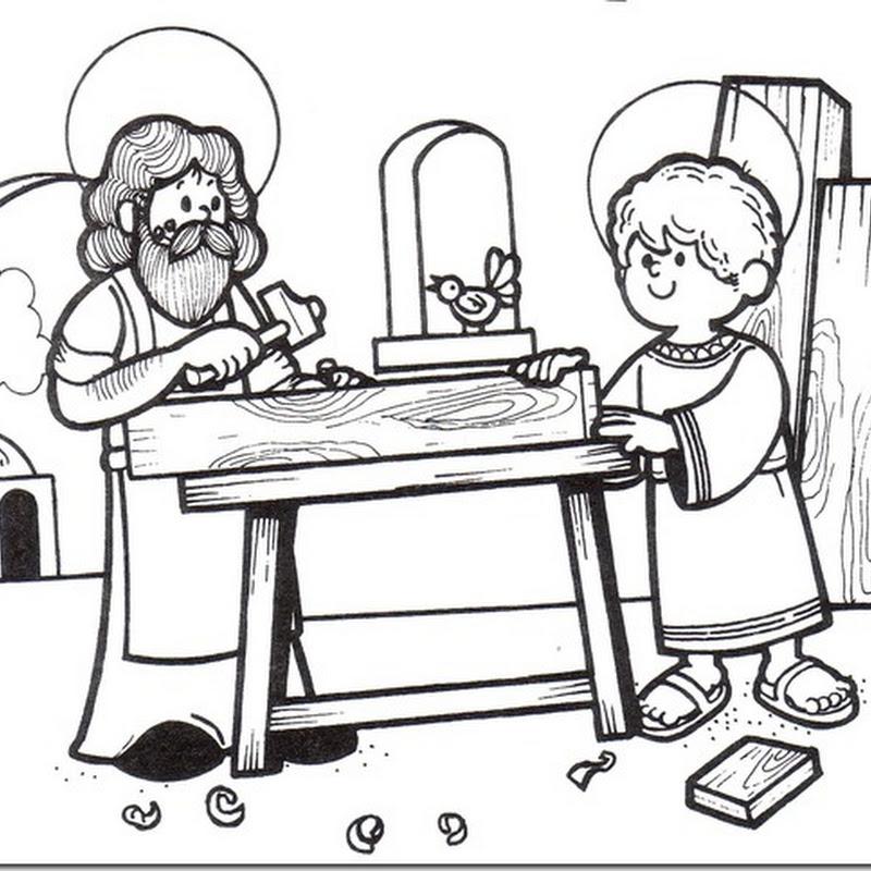 Dibujos de San José para pintar
