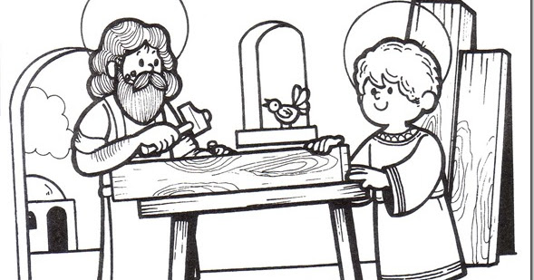 Dibujos de San José para pintar - colorear tus dibujos