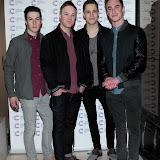 WWW.ENTSIMAGES.COM -   Don Broco The Band    arriving at a Fundraising event in aid of Cancer Research UK at The Roof Gardens Kensington High Street, London April 3rd 2013                                                    Photo Mobis Photos/OIC 0203 174 1069
