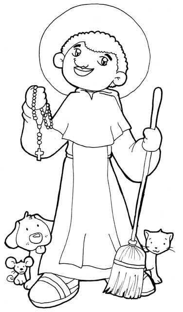 Saint Martin de Porres coloring pages