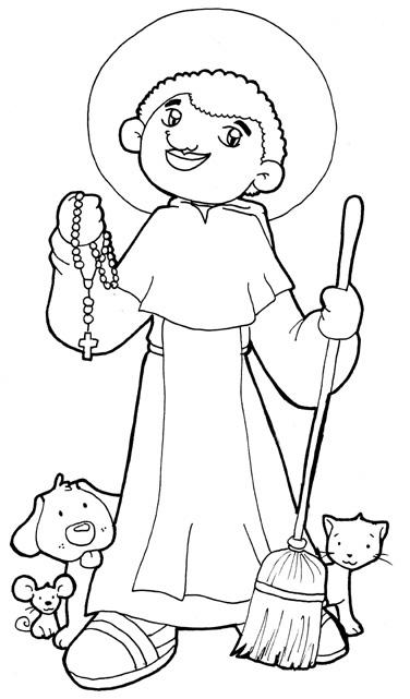 San Martín de Porres para colorear