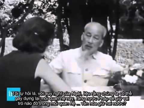 Image result for images for nữ phóng viên pháp phỏng vấn bác hồ