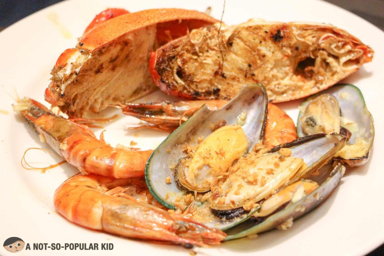 Fresh seafood in S Kitchen, Sheraton Hotel