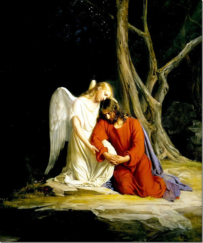 Gethsemane_Carl_Bloch Christ with angel